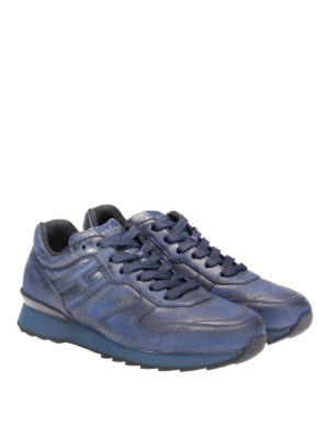 Hogan: trainers online - R261 worn out leather sneakers