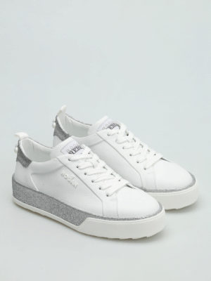 Hogan: trainers online - R320 leather sneakers