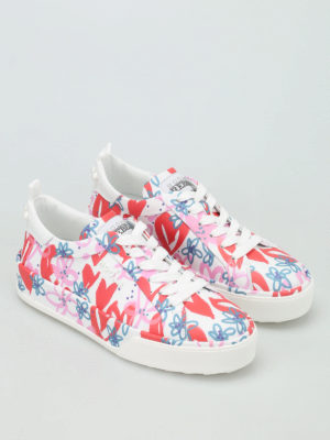 Hogan: trainers online - R320 printed leather sneakers