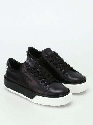 Hogan: trainers online - R320 studded leather sneakers