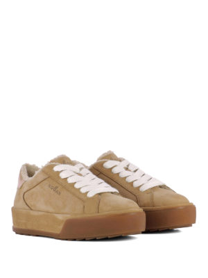 Hogan: trainers online - Shearling inner leather sneakers