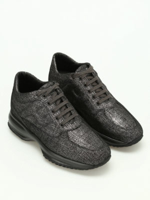 Hogan: trainers online - Shiny suede Interactive sneakers
