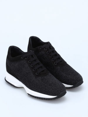 Hogan: trainers online - Suede and lurex Interactive