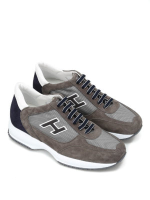 Hogan: trainers online - Suede and nylon New Interactive