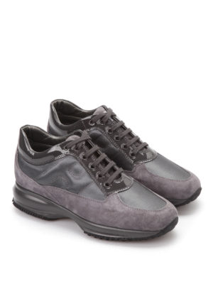 Hogan: trainers online - Suede and patent leather trainers