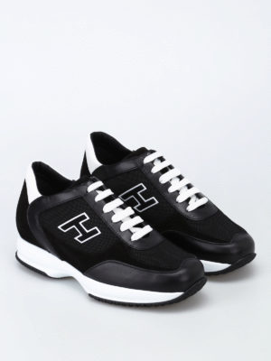 Hogan: trainers online - Suede H black New Interactive