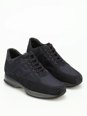 Hogan: trainers online - Suede technical fabric Interactive