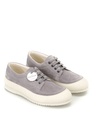 Hogan: trainers online - Traditional H258 grey nubuck shoes