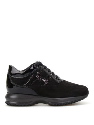 Hogan: trainers - Polka dot H suede Interactive
