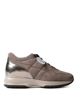 Hogan: trainers - Quilted suede Interactive sneakers