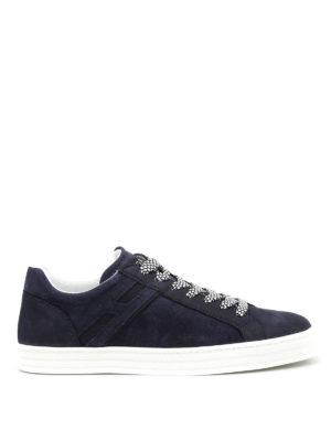 Hogan: trainers - R141 nubuck leather sneakers