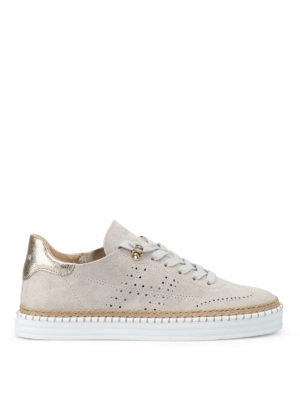 Hogan: trainers - R260 drilled H suede sneakers
