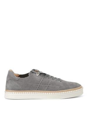Hogan: trainers - R260 grey suede sneakers