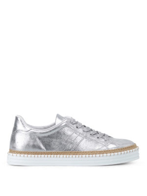 Hogan: trainers - R260 silver leather sneakers