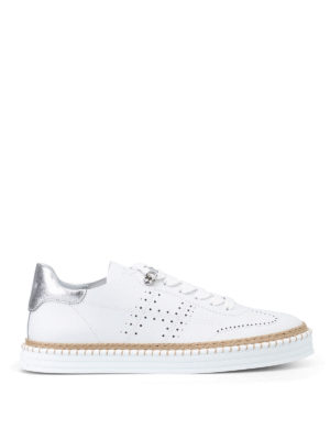 Hogan: trainers - R260 white leather sneakers