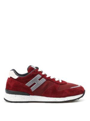 Hogan: trainers - R261 burgundy running sneakers