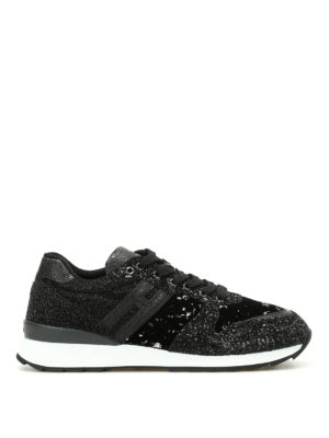 Hogan: trainers - R261 coarse glitter sneakers