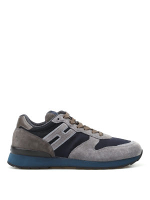 Hogan: trainers - R261 grey suede running sneakers
