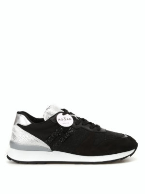 Hogan: trainers - R261 lurex and suede sneakers