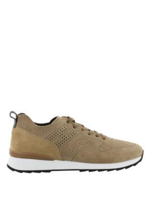HOGAN: sneakers - Sneaker R261 in suede e nabuk