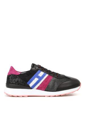 Hogan: trainers - R261 multi fabric running sneakers