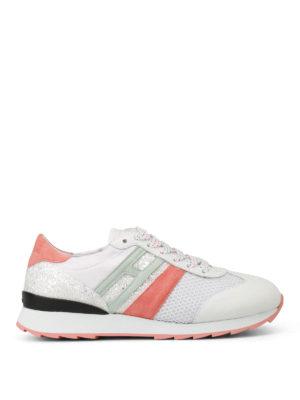 Hogan: trainers - R261 multi fabric white sneakers