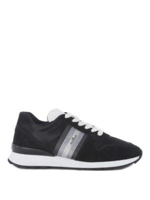 HOGAN: sneakers - Sneaker R261 con banda glitter