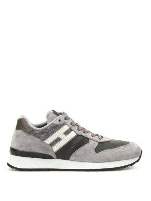 Hogan: trainers - R261 suede and fabric sneakers