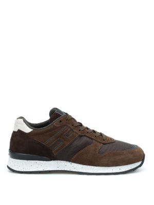 Hogan: trainers - R261 suede and mesh sneakers