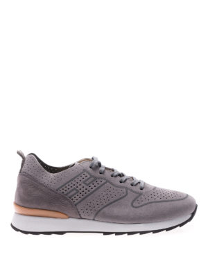 Hogan: trainers - R261 suede and nubuk sneakers