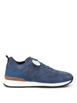 Hogan: trainers - R261 unlined suede sneakers