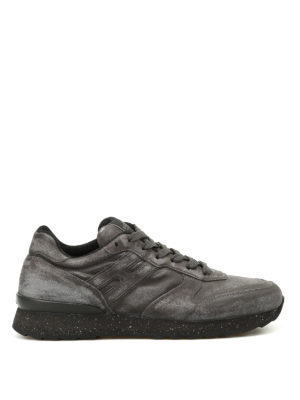 Hogan: trainers - R261 worn out leather sneakers