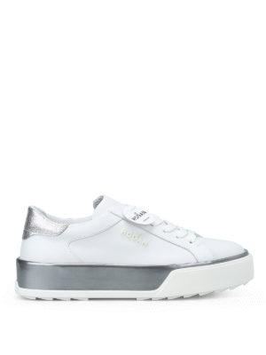 HOGAN: sneakers - Sneaker R320 in pelle bianca