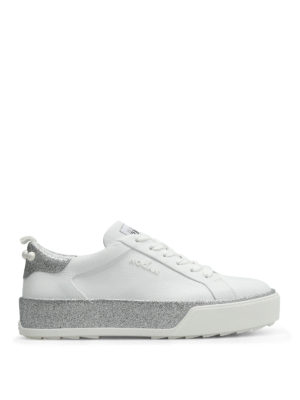 Hogan: trainers - R320 leather sneakers