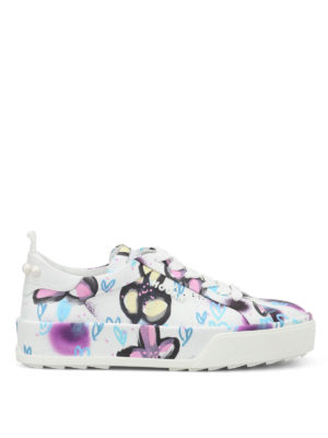 Hogan: trainers - R320 printed leather sneakers