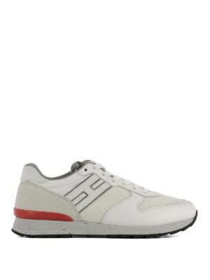 HOGAN: sneakers - Sneaker Running R261 bianche