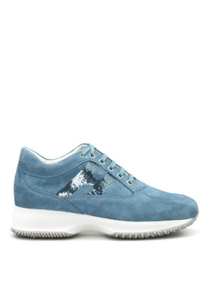 Hogan: trainers - Sequined H suede Interactive