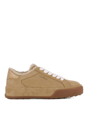 Hogan: trainers - Shearling inner leather sneakers