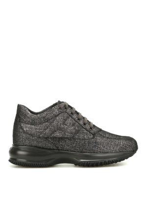 Hogan: trainers - Shiny suede Interactive sneakers