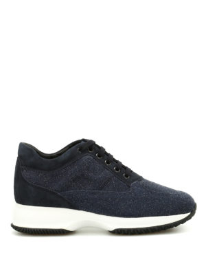 Hogan: trainers - Suede and lurex Interactive