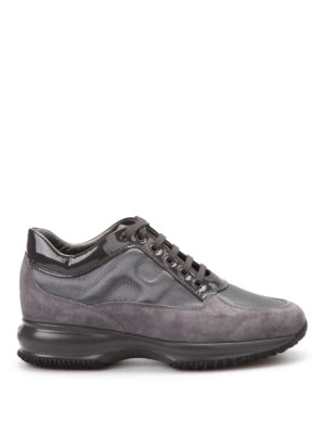Hogan: trainers - Suede and patent leather trainers