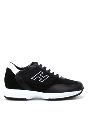 Hogan: trainers - Suede H black New Interactive