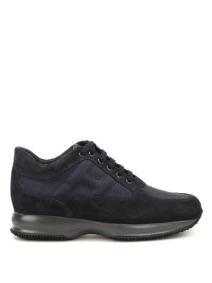 Hogan: trainers - Suede technical fabric Interactive