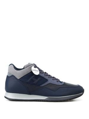 HOGAN: sneakers - Sneaker medio alte in pelle bicolore H321