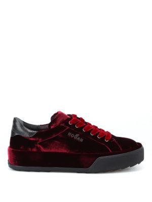 HOGAN: sneakers - Sneaker R320 basse in velluto