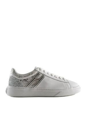 9201f9d2c464 HOGAN  sneakers - Sneaker bianca in pelle effetto rovinato