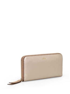 Hogan: wallets & purses online - Zip around gold continental wallet