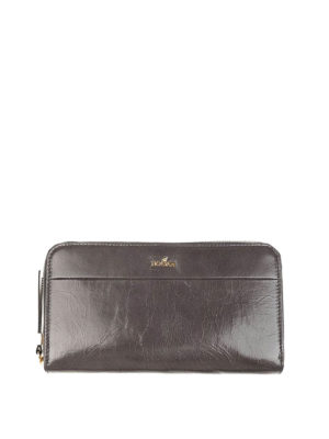 Hogan: wallets & purses - Vintage effect leather wallet