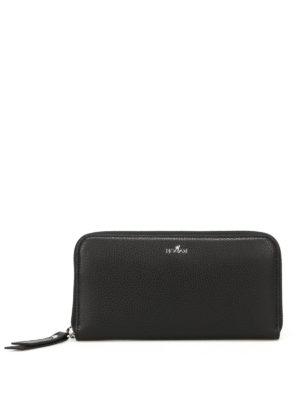 Hogan: wallets & purses - Zip around black continental wallet