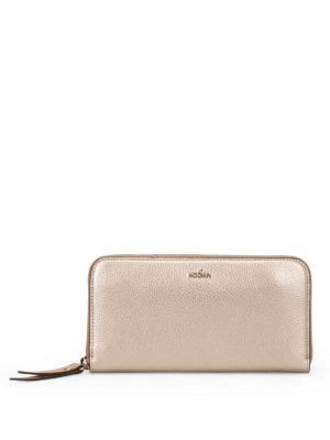Hogan: wallets & purses - Zip around gold continental wallet